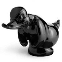 5046 Duck Hood Ornament Black Truckers Toy Store