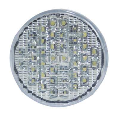 LED Multi Volt 4 Inch Round Clear/Amber Indicator
