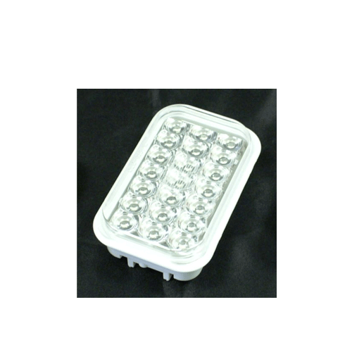 LED Multi Volt Rectangle Clear/Red Stop Tail