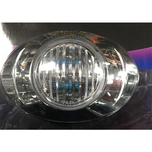 LED 12V CLEAR/AMBER EGG SHAPE