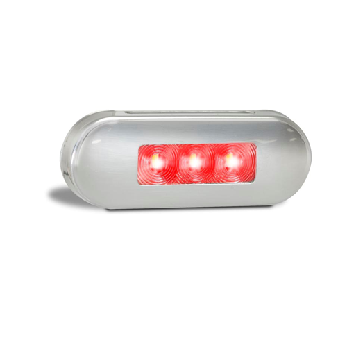 LED Muilti Volt Low Profile Clear/Red