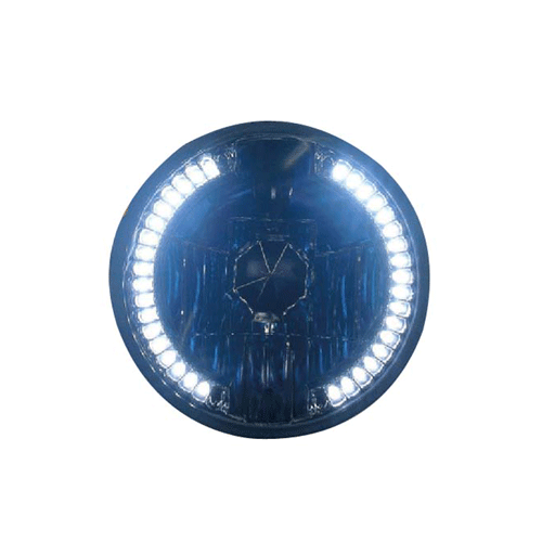 LED Angel Eye 7 Inch Headlight Clear