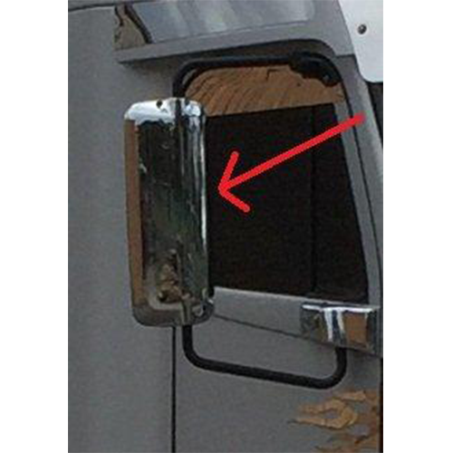 Chrome Mirror Cover Right Hand Side Freightliner 355mm