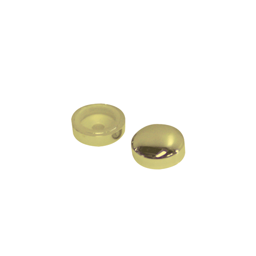 Screw Covers Snap On Dome 16mm Gold 10 pack