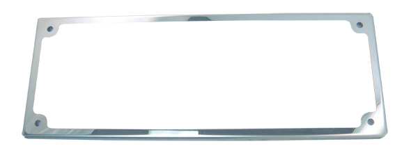Stainless Steel Slim Line Licence Frame With Acrylic Cover 380mm X 106mm