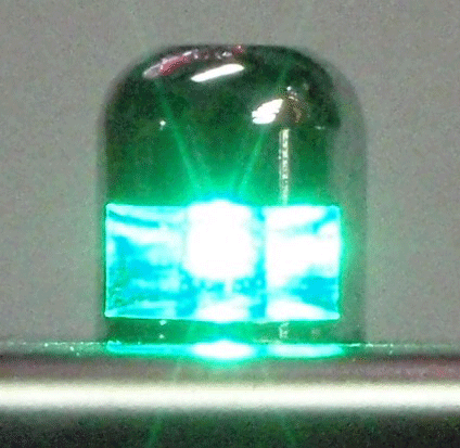 LED Light 12 Volt Bolt Green