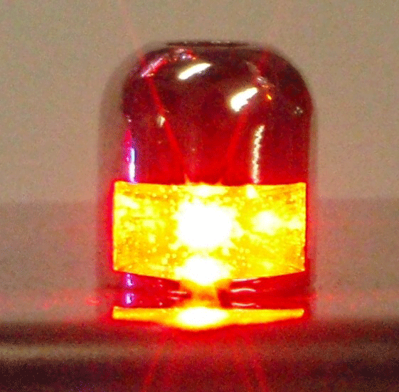 LED Light 12 Volt Bolt Red
